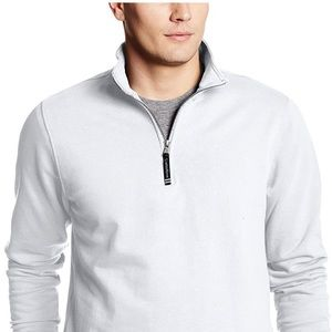 NWOT White Crosswind Quarter Zip Sweatshirt
